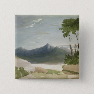Snowdon (w/c with pencil) 15 cm square badge