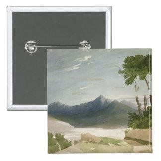 Snowdon (w/c with pencil) 15 cm square badge
