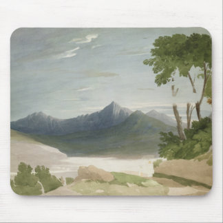 Snowdon (w/c with pencil) mouse pad