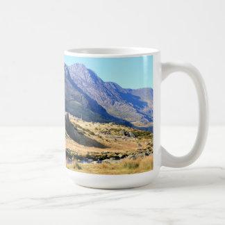 Snowdonian mountains basic white mug