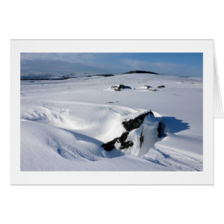 Snowdrift on Barnard Castle Allotment Card