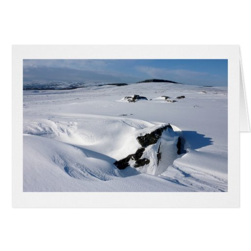Snowdrift on Barnard Castle Allotment Greeting Cards