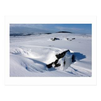 Snowdrift on Barnard Castle Allotment Postcard