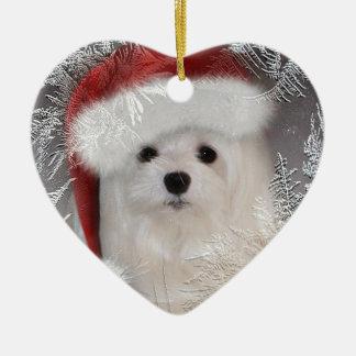 Snowdrop the Maltese Ornament