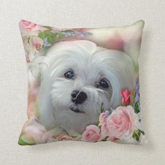 Snowdrop the Maltese Pillow/Cushion