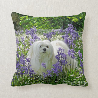 Snowdrop the Maltese Pillow/Cushion Cushion
