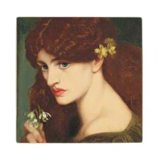 Snowdrops, 1873 (oil on canvas) wood coaster