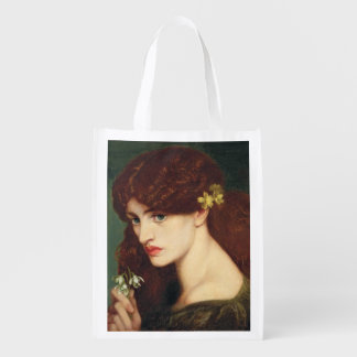 Snowdrops, 1873 (oil on canvas) reusable grocery bag
