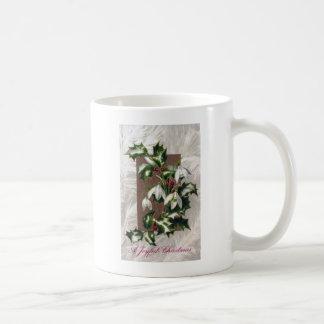 Snowdrops and Holly Vintage Christmas Mug
