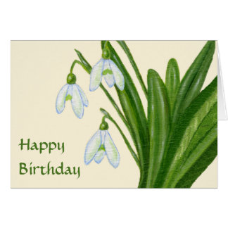 Snowdrops birthday card