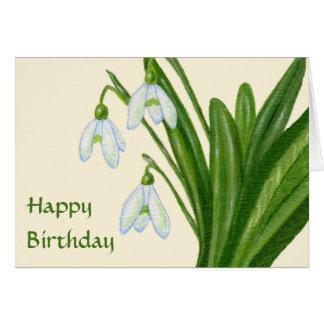 Snowdrops birthday card