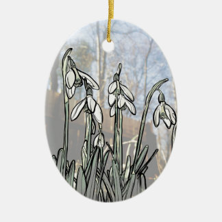 Snowdrops Christmas Ornament