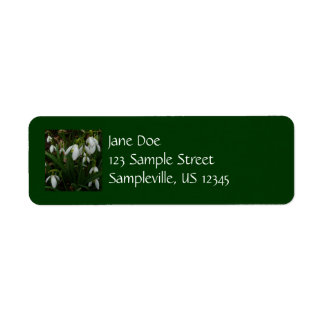 Snowdrops I (Galanthus) White Spring Flowers Return Address Label
