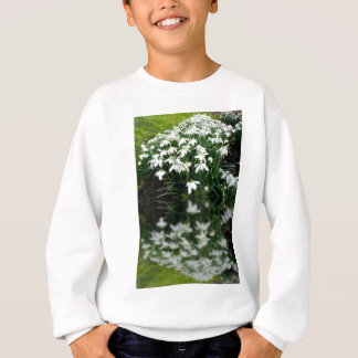 Snowdrops in reflection sweatshirt