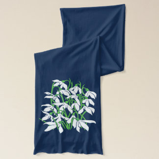 Snowdrops January Birth Month Flower Scarf