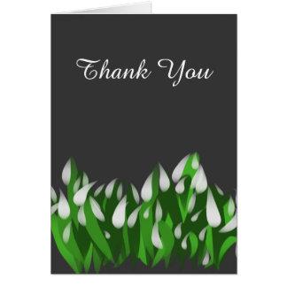 Snowdrops Thank You Card