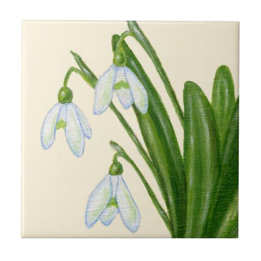 Snowdrops tile