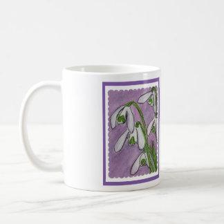 Snowdrops watercolour art mug