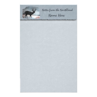 Snowdusted Deer Faux Parchment Stationery