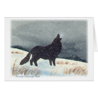 Snowdusted Wolf Greeting Cards