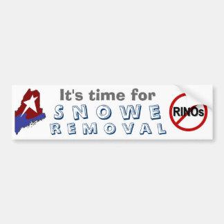 Snowe removal bumper sticker