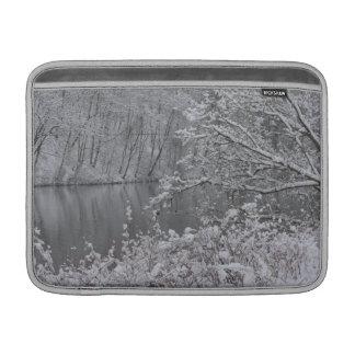 snowed river MacBook sleeve