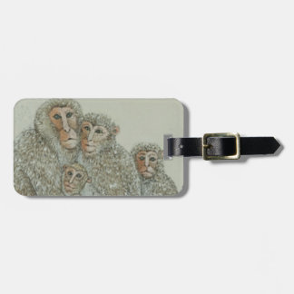Snowed under luggage tag