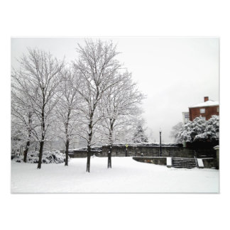 Snowfall in Boston Photo Print