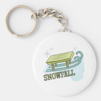 Snowfall Keychains