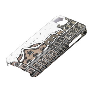Snowfall over a city iPhone 5 cover