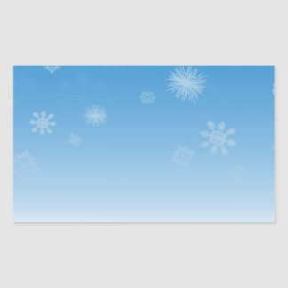 Snowfall Rectangular Sticker