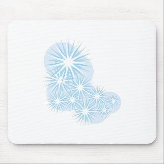 Snowfall Starburst Mousepad