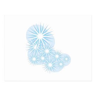 Snowfall Starburst Postcard