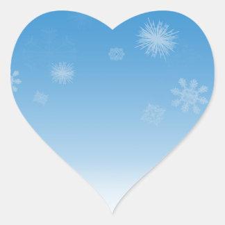 Snowfall Heart Stickers