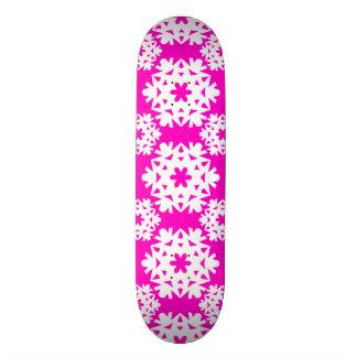 Snowflake 10 Pink Skateboard