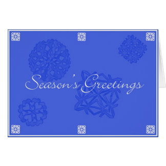 Snowflake 10 Season's Greetings Card