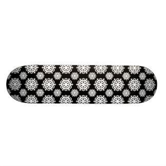 Snowflake 11 Black and White Custom Skate Board