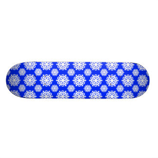 Snowflake 11 Blue Skateboard