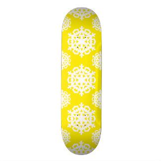 Snowflake 11 Yellow Skate Board