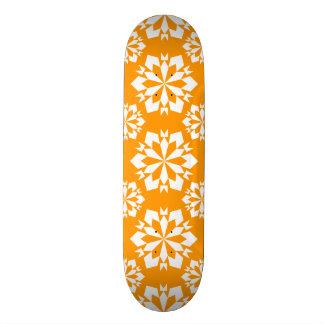Snowflake 15 Orange Custom Skate Board