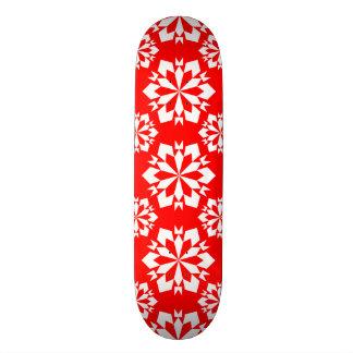 Snowflake 15 Red Skateboard Deck