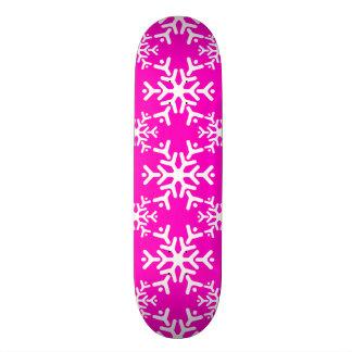 Snowflake 17 Pink Skateboard Deck