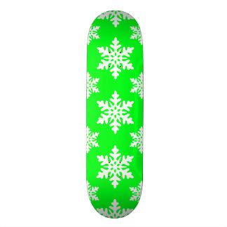 snowflake 1 Green Skateboard Deck