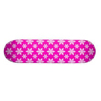snowflake 1 Pink Skate Board Deck