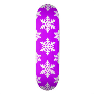 snowflake 1 Purple Skate Board Deck