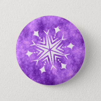 SNOWFLAKE 3 6 CM ROUND BADGE