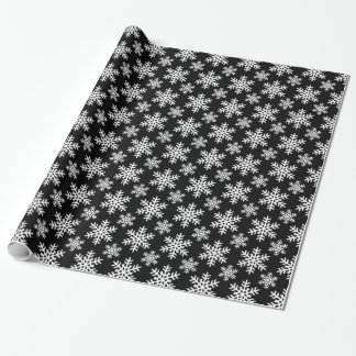 Snowflake 4 Black and White Wrapping Paper
