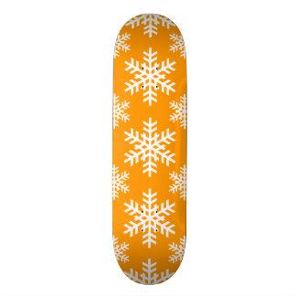 Snowflake 4 Orange Skate Deck