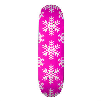 Snowflake 4 Pink Skateboard Deck