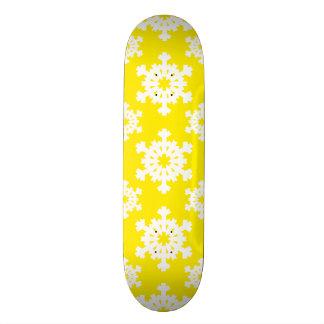 Snowflake 5 Yellow Custom Skate Board